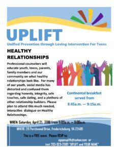 Healthy Relationships @ UPLIFT-Agape Fellowship | Fredericksburg | Virginia | United States