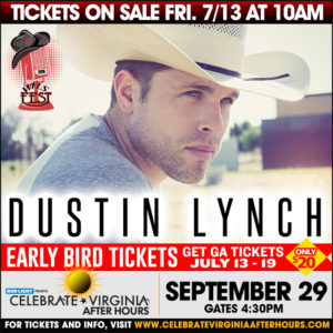 WFLS Fest with Dustin Lynch @ Celebrate Virginia After Hours | Fredericksburg | Virginia | United States