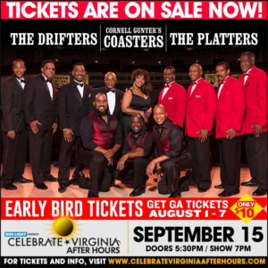 The Drifters, Cornell Gunter's Coasters, and The Platters @ Celebrate Virginia After Hours | Fredericksburg | Virginia | United States