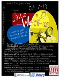 FJC Jazz Week 2018 : Open Jazz Jam at The Colonial Tavern @ The Colonial Tavern   Fredericksburg   Virginia   United States