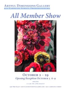 Artful Dimensions All Member Show @ Artful Dimensions Gallery | Fredericksburg | Virginia | United States