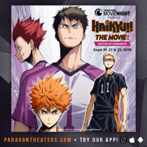 HAIKYU!! THE MOVIE: BATTLE OF CONCEPTS () @ Paragon Village 12 Splitsville  | Fredericksburg | Virginia | United States